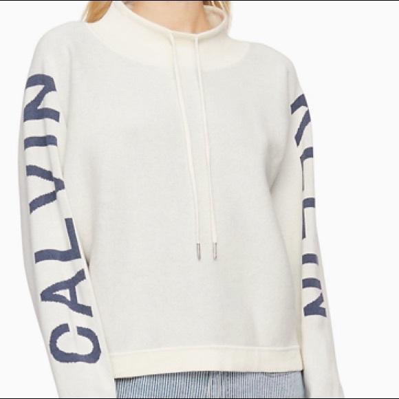Calvin Klein jeans logo mock sweater!